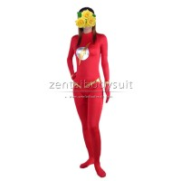 Red The Flash Costume Spandex Superhero Zentai Suits No Hood