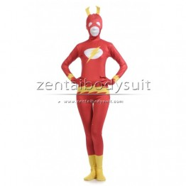 Custom Red The Flash Spandex Halloween Party Superhero Cosplay Costume