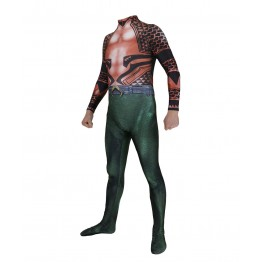 Aquaman Movie Version Tattoo Superhero Cosplay Costume