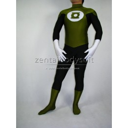 Army Green And Black Green Lantern Costume Cosplay Zentai Suit