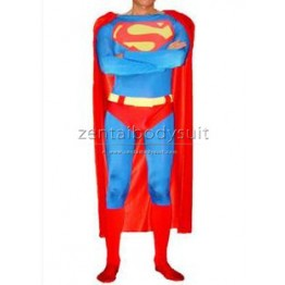 Classic Design Superman Costume Spandex Superhero Bodysuits