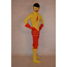 Custom DC Comics Kids Flash Costume Spandex Superhero Zentai Costume