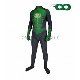Green Lantern Costume Muscle Bodysuit Superhero Suit
