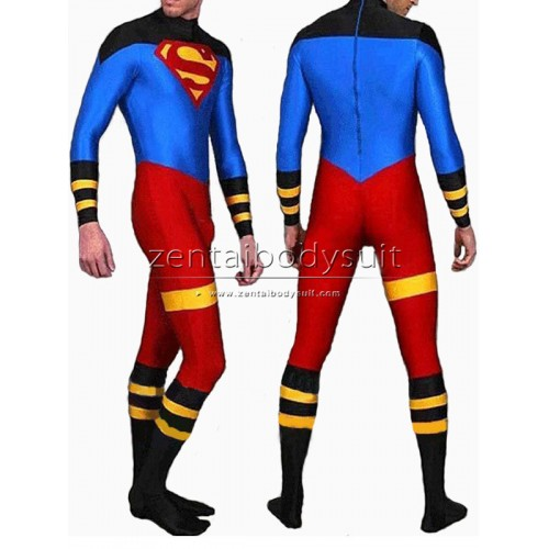 Lycra Spandex Superman Costume Superhero Zentai Suits