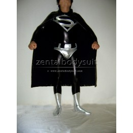 Shiny Metallic Superman Costume Superhero Suit