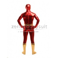 The Flash Shiny Metallic Superhero Costume