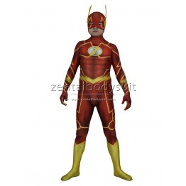 The New 52 Flash Costume 3D Shade Cosplay The Flash Suit