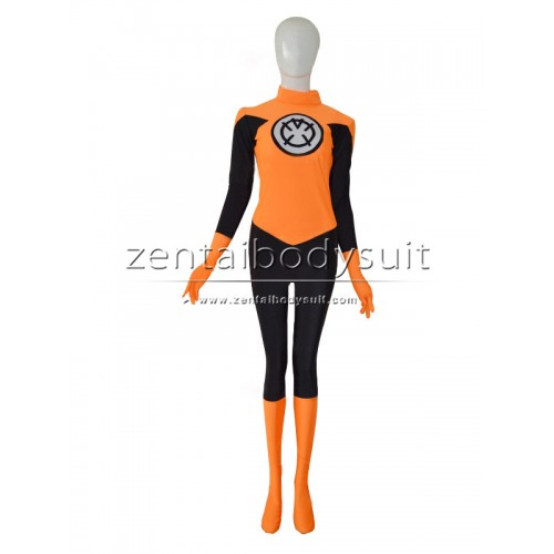 Custom Orange Lantern Corps Cosplay Zentai Costume