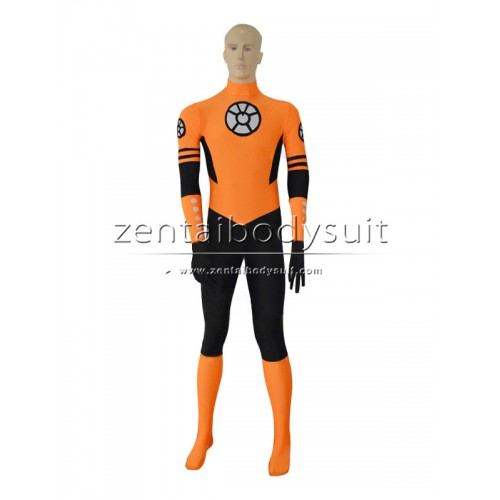 Custom Orange Lantern Crops Costume Cosplay Spandex Zentai Suits