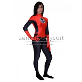 Latern Crops Red And Black Superhero Costume