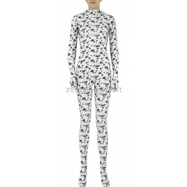 Black Dot Pattern Skin Spandex Zentai Suit No Mask