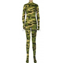 Camouflage Skin Spandex Zentai Suit No Mask