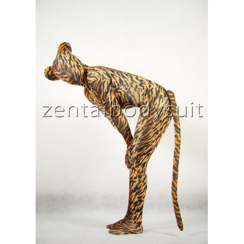 Tiger Print Full Body Suit Zentai with Ear And Tail