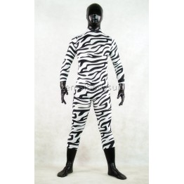 Zebra Pattern Multicolor Unisex Zentai Suit