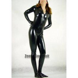Cat Costume Black Cat Shiny Metallic Superhero Costume