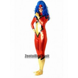 Marvel Spider-Woman Suit Shiny Metallic Superhero Costume