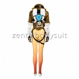 Game Overwatch Tracer Lena Oxton Cosplay Costume