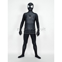 3D The Amazing SpiderMan 2 Black Costume Black Spider-Man Morph Fullbody Suit