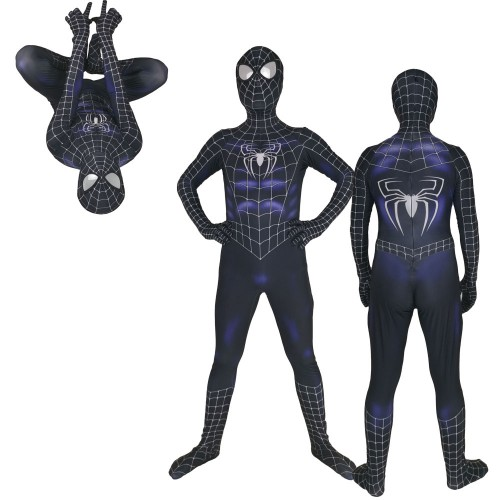 Black Raimi Spiderman Costume 3D Designed Cosplay Suit