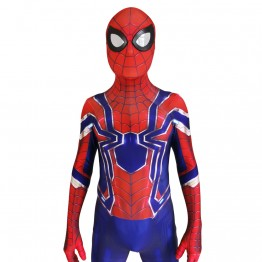 Spider-Man Costume Blue Iron Spider MCU Superhero Costume