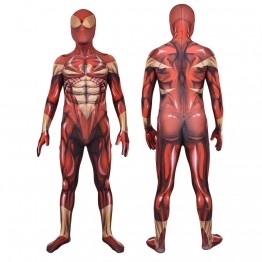 Iron Spider Costume Spider-Man PS4 Cosplay Halloween Costume