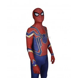 Blue Spider-Man Costume Iron Spider MCU Cosplay Costume