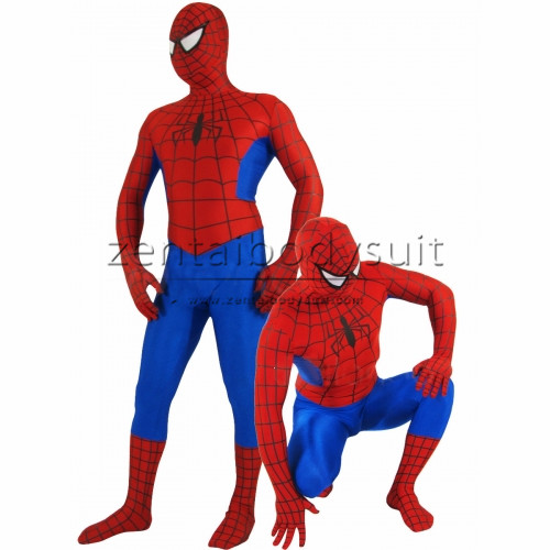 Classic Red Blue Spiderman Spandex Superhero Costume