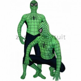 Green Navy Spiderman Spandex Superhero Costume