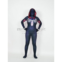 Gwenom Cosplay Costume Femme Symbiote Venom Spider Gwen Stacy Spiderman Superhero Suit