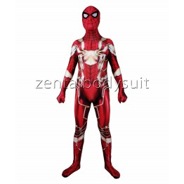 Red And Gold Spider-Man Costume MCU Iron Spider Version Costume