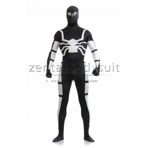 Spiderman Cosplay Costume | Black And Silver Cool Lycra Spider-man Halloween Costume