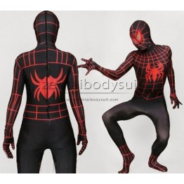 Stripe Spiderman Costume Lycra Spandex Zentai Suit