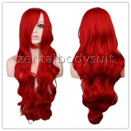 Red Curve Firestar Superhero Female Wig 80cm