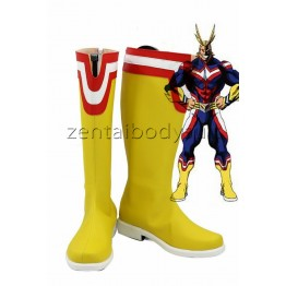 Anime My Hero Academia All Might Cosplay Shoes Boots