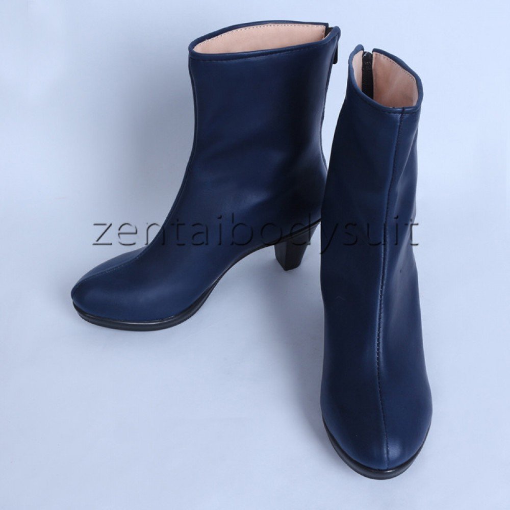 X-men Psylocke Boots Blue Cosplay Shoes