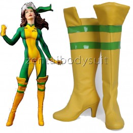 X-men Rogue Boots | Rogue Superhero Cosplay Shoes
