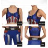 Marvel Avenger Alliance American Captain Fitness Sports Trousers Vest Set