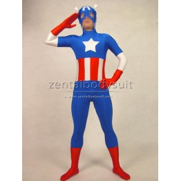 Marvel The Avengers Captain America Costume Spandex Superhero Suit