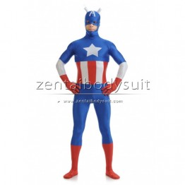 The Avengers Captain America Costume Spandex Superhero Suit