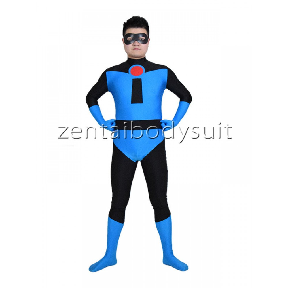 Best Incredibles Toys Reviewed : Blue mr credible spandex superhero costume