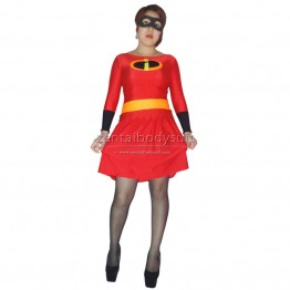 Mrs Incredible Skirt Spandex Superhero Costume