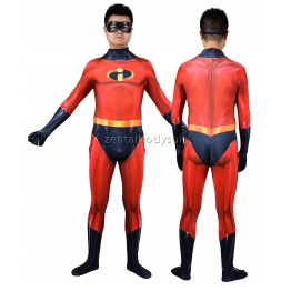 The Incredibles 2 Mr. Incredible Cosplay Superhero Costume
