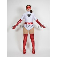 White The Incredibles Elastigirl Superhero Costumes
