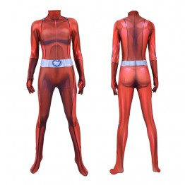 Clover Totally Spies! DyeSub Printing Jumpsuit Cosplay Costume Zentai Suit