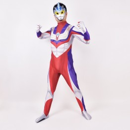Ultraman Tiga Cosplay Costume Printed Zentai Suit Kids/Adults