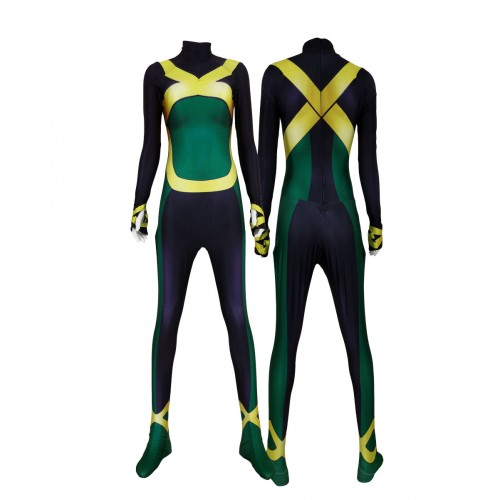 X-men Blue Jean Grey Printing Superhero Costume