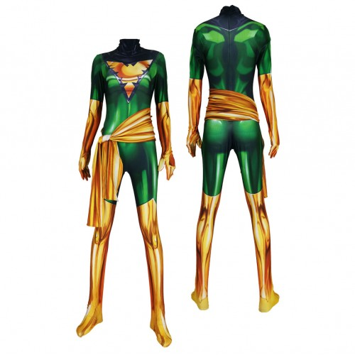Phoenix X-men Jean Grey Dyesub Girls Superhero Costume