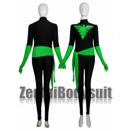 Black And Green X-Men Phoenix Spandex Costume