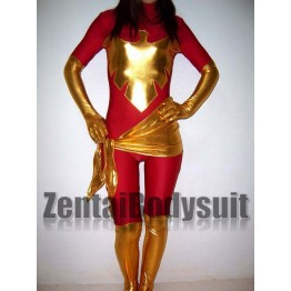 Green Dark X-men Phoenix Spandex Superhero Costume