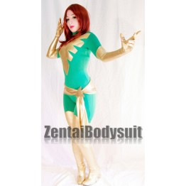 Green Dark X-men Phoenix Superhero Costume